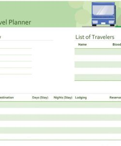 sample family trip agenda template vacation calendar schedule travel planner itinerary template excel