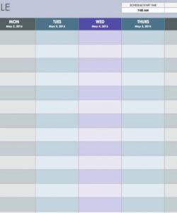 sample free weekly schedule templates for excel  smartsheet programme itinerary template sample