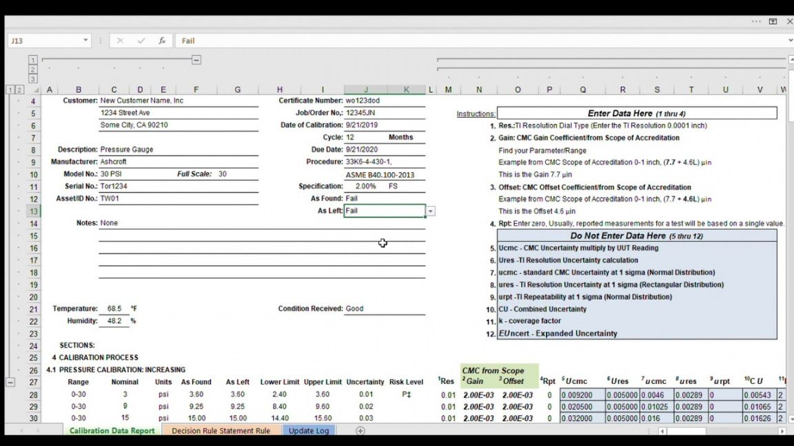 decision rule excel calculator  decision rule excel calculator uncertainty budget template
