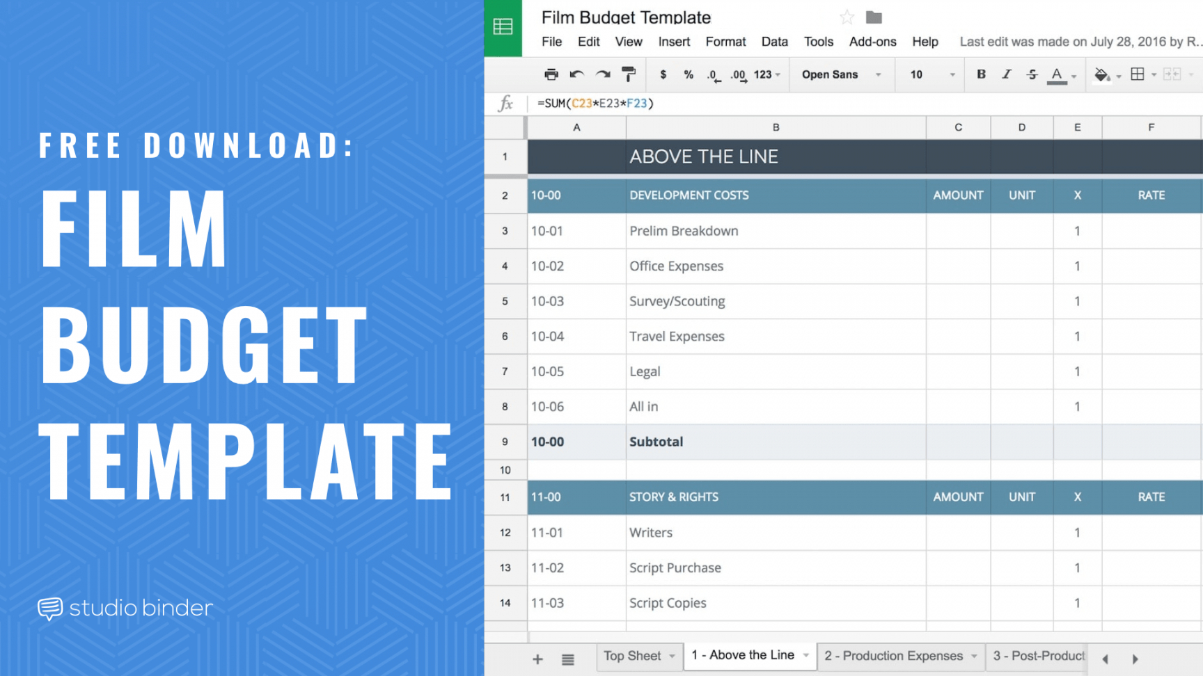 download your free film budget template for film & video music video budget template word