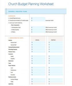 free 6 church budget forms in pdf  excel budget template for church ministry