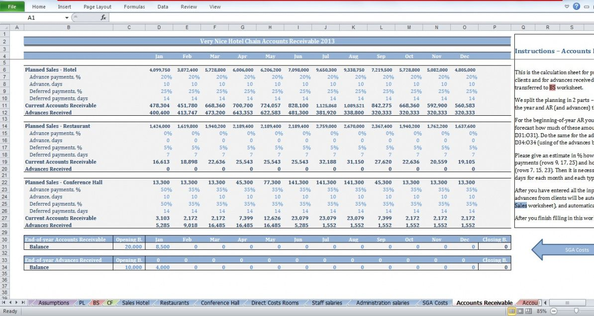 free hotel budget template chain of hotels  cfotemplates hotel operating budget template excel
