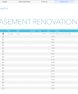 free kitchen renovation budget—excel template kitchen renovation budget template pdf