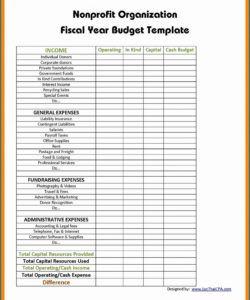 free non profit budget template ~ addictionary budget template for non profit organisation sample