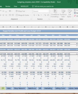 free retail budget template  cfotemplates retail store budget template excel
