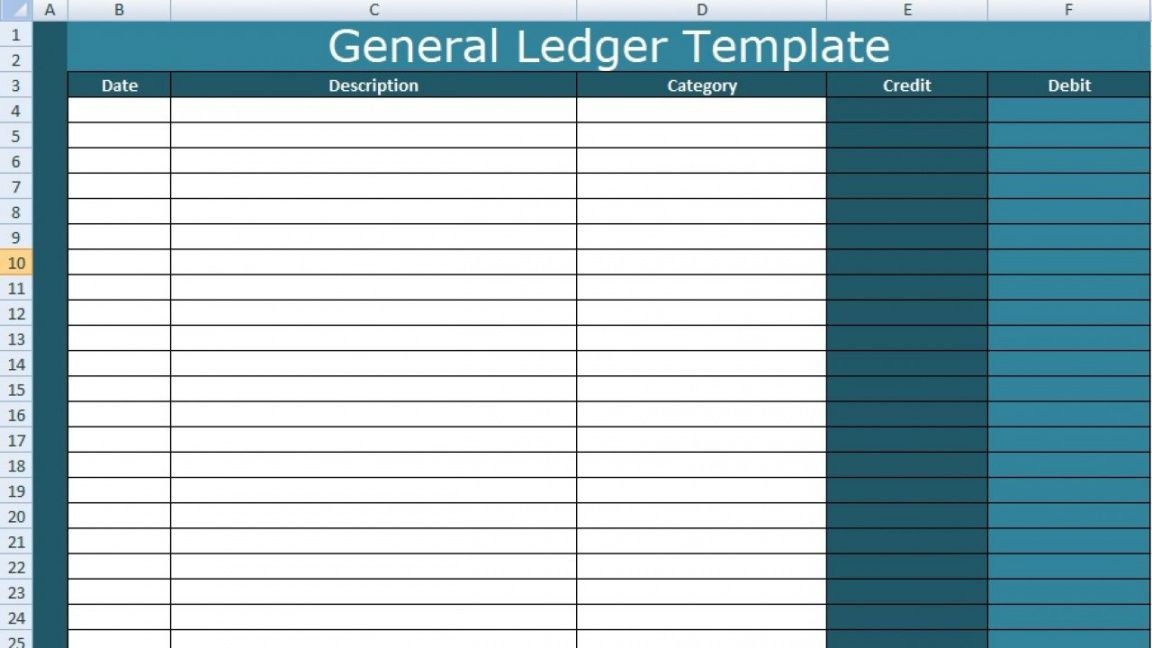 general ledger template excel xls  free excel spreadsheets uncertainty budget template