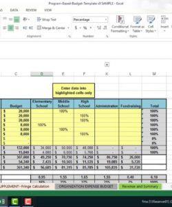 nonprofit program budget builder template  wallace budget template for non profit organisation sample