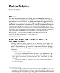 pdf municipal budgeting municipal budget template