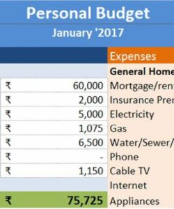 printable download personal budget excel template  exceldatapro personal home budget template sample