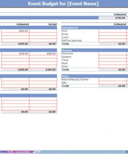 printable event budget spreadsheet  event budgeting  event budgets conference budget spreadsheet template example