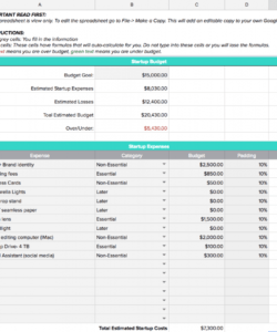 printable how to create a startup budget  free business budget template overhead budget template pdf