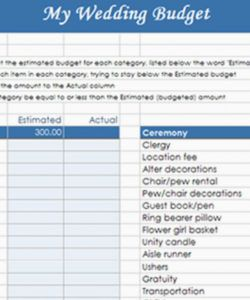 printable how to make your own budget worksheet spreadsheet destination wedding budget template