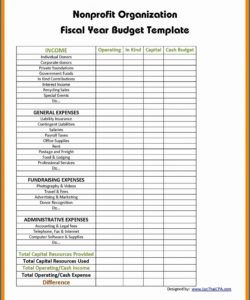 printable non profit budget template ~ addictionary nonprofit fundraising budget template excel