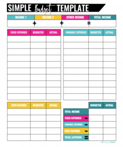 sample 10 free budget templates that will change your life easy household budget template excel