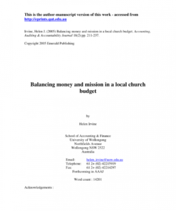 sample pdf balancing money and mission in a local church budget southern baptist church budget template excel