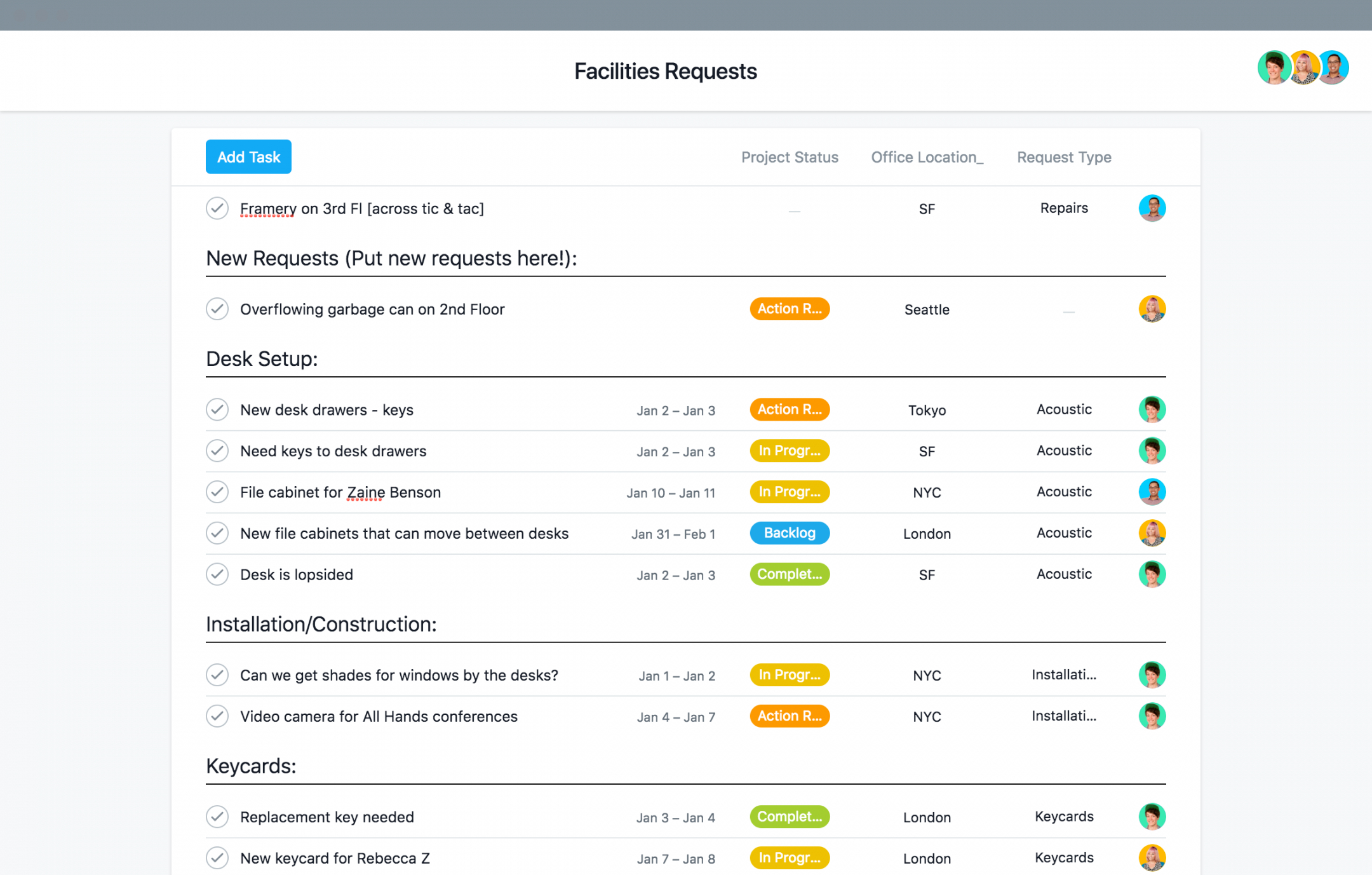 template for facilities management & requests · asana facilities management budget template pdf