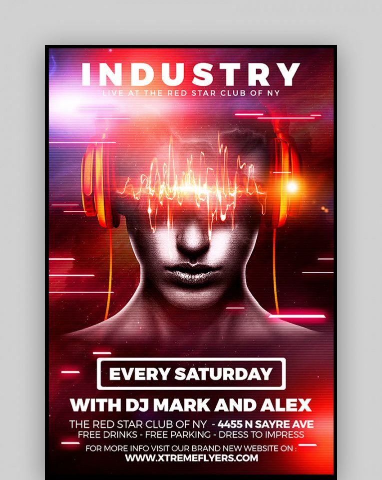 20 best free club & party flyer background template designs 2020 club promo flyer template pdf