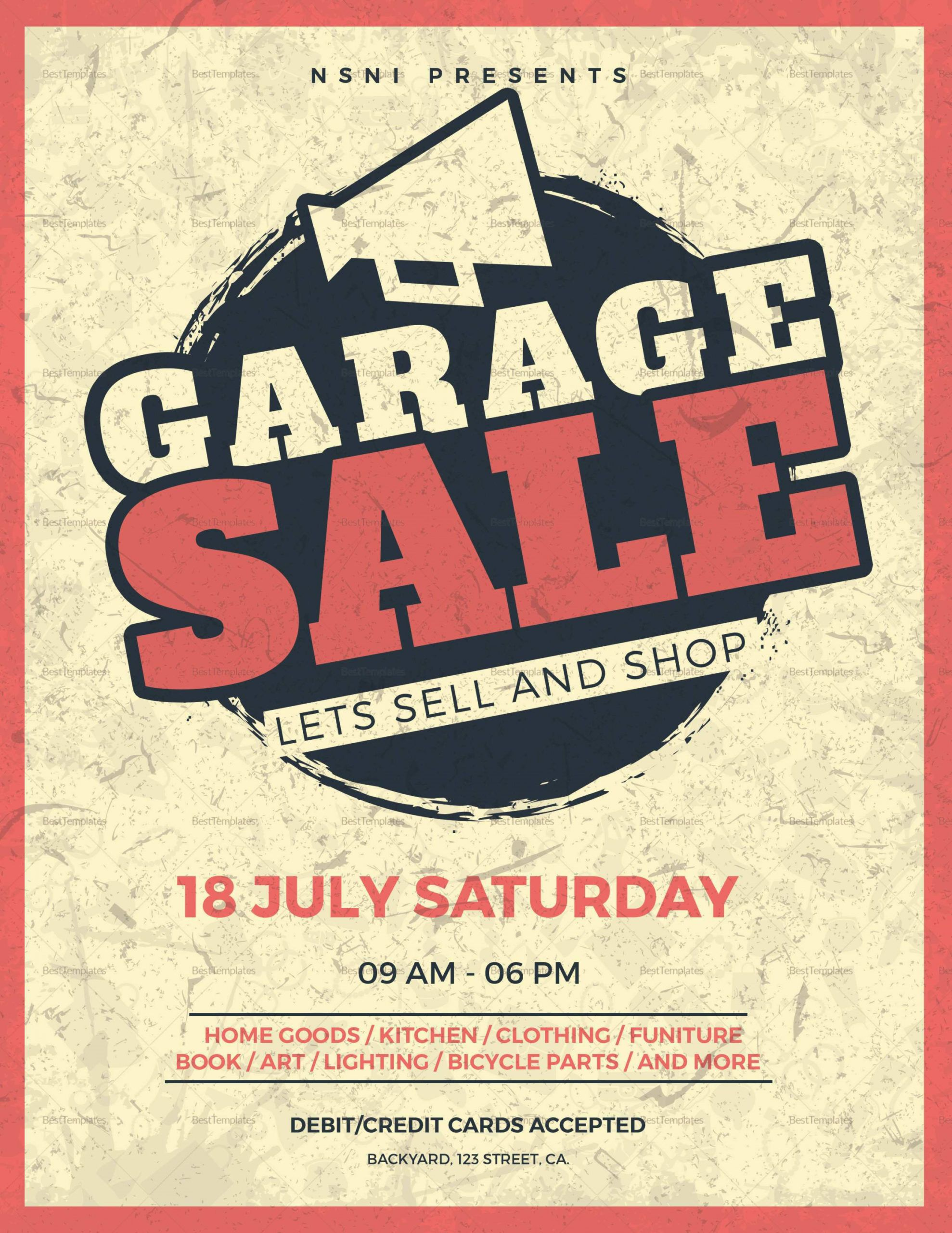 84 blank garage sale flyer template in photoshop by garage rummage sale flyer template pdf