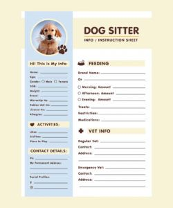a4 dog sitter information sheet template ai dog sitting flyer template doc