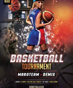 basketball tournament free psd flyer template  stockpsd basketball game flyer template