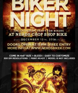 bike night graphics designs & templates from graphicriver bike night flyer template pdf