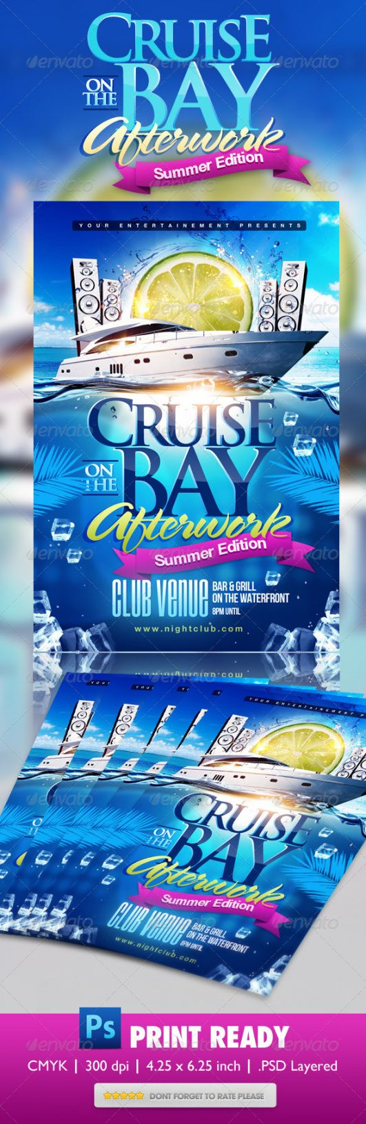 boat flyer graphics designs & templates from graphicriver boat cruise flyer template