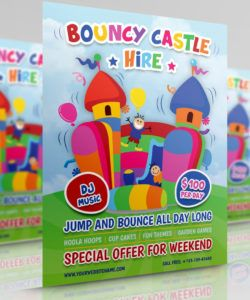 bouncy castle hire flyer template by owpictures on dribbble bounce house flyer template and sample
