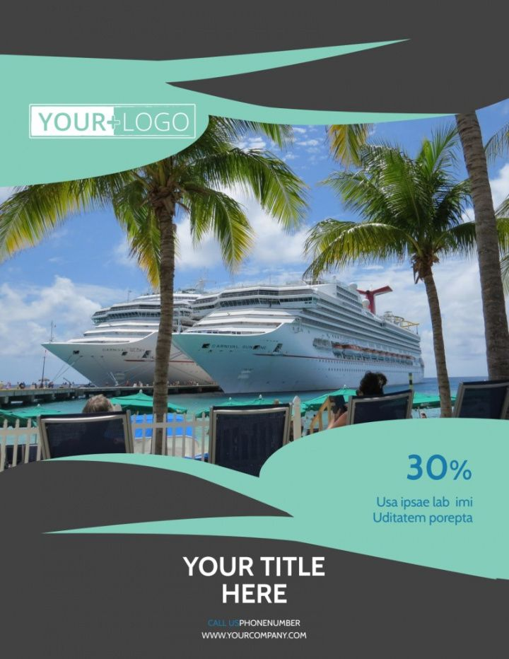 caribbean cruise ship flyer template  mycreativeshop boat cruise flyer template and sample