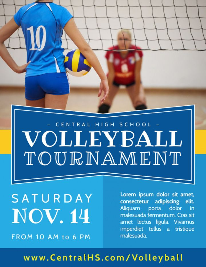 classic volleyball tournament flyer template volleyball tournament flyer template
