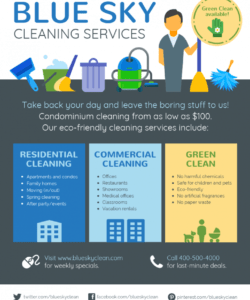 cleaning service flyer community service flyer template pdf