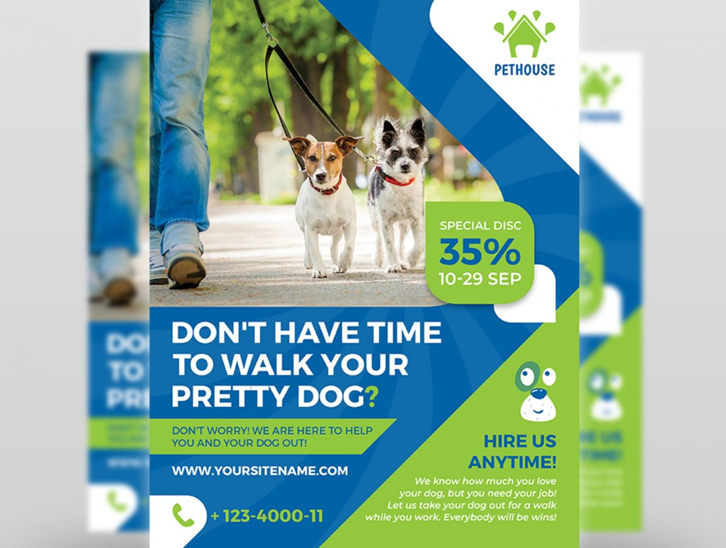 dog walker services flyer template by owpictures on dribbble dog sitting flyer template pdf