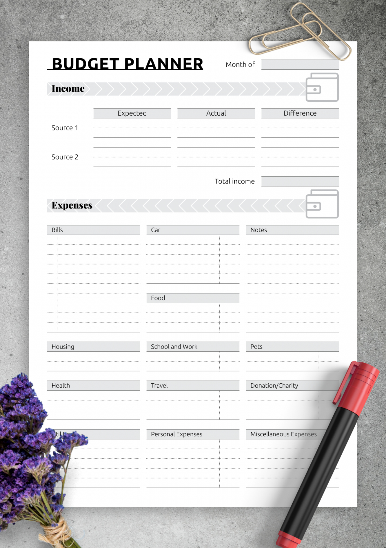 download printable simple monthly budget template pdf easy monthly budget template doc