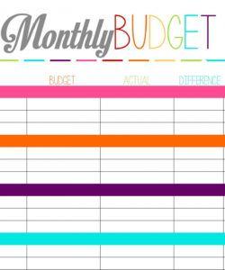 editable family budget financial sheet finance spreadsheet budget financial statement template