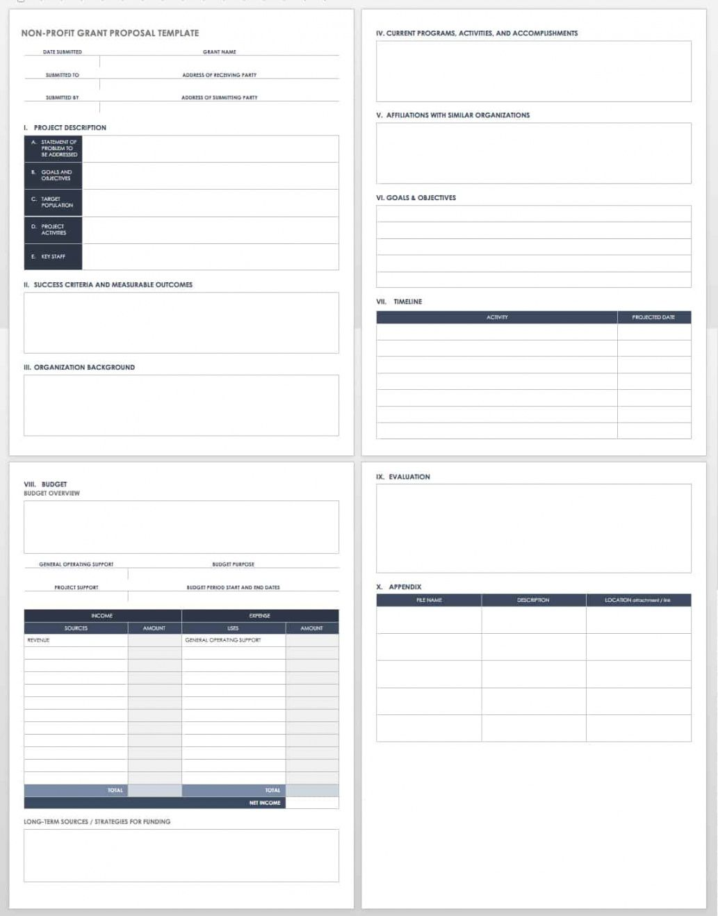 editable free grant proposal templates  smartsheet grant project budget template sample