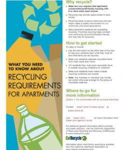 english and spanish language commercial recycling flyer community service flyer template and sample