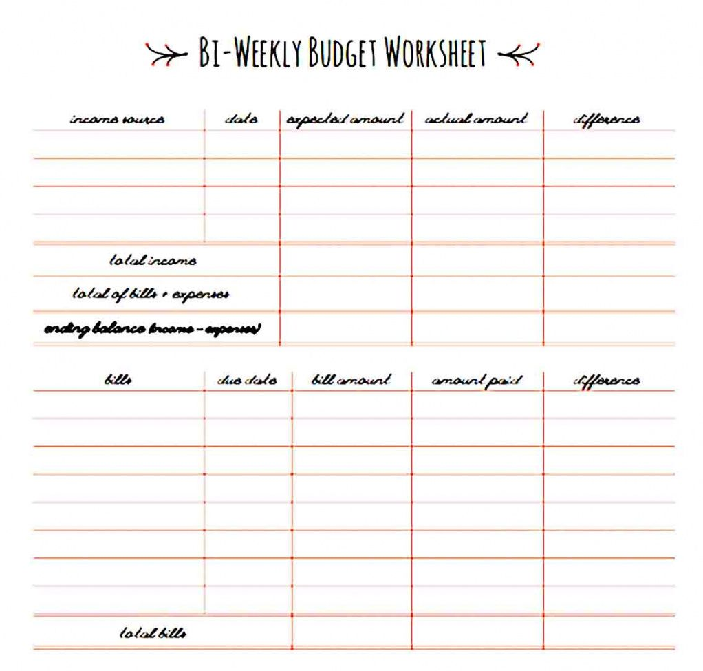 free bi monthly family budget template how to biweekly pay paying bi weekly household budget template