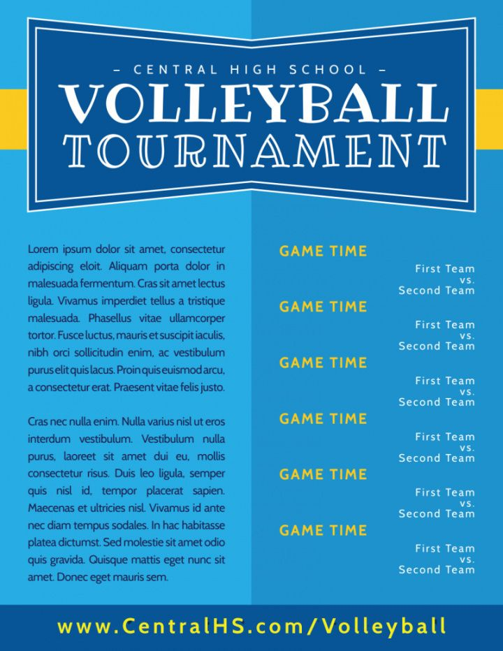 free classic volleyball tournament flyer template volleyball tournament flyer template doc