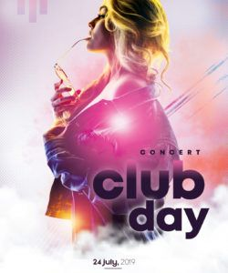 free club day party free psd flyer template  stockpsd club promo flyer template pdf
