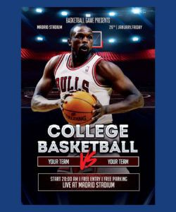 free college basketball flyer template psd basketball game flyer template