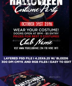 free costume party graphics designs & templates from graphicriver costume party flyer template and sample