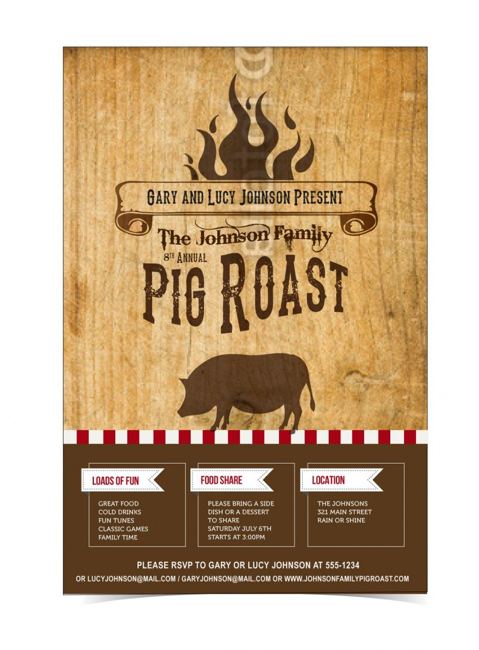 free designcontest  pig roast event ticket & poster pig roast flyer template pdf