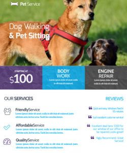 free dog walking & pet sitting flyer template  mycreativeshop dog sitting flyer template pdf