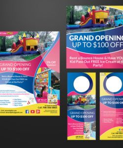 free entry 34 by dexter000 for design a flyer doorhanger and bounce house flyer template pdf