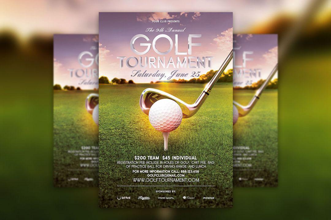 free golf tournament flyer psd template download  hyperpix golf tournament template flyer doc