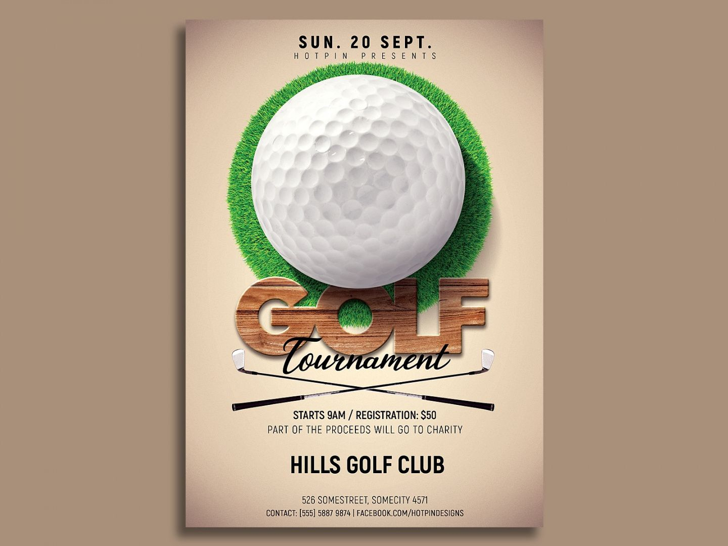 free golf tournament flyer template by hotpin on dribbble golf tournament template flyer doc