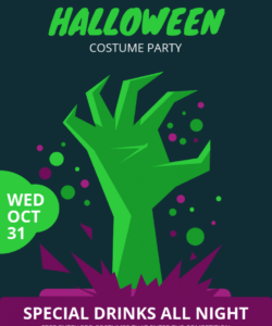 free halloween costume party flyer template costume party flyer template pdf