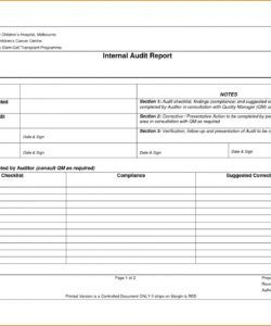 free internal audit report templates ~ addictionary internal audit budget template word