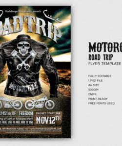 free motorcycle road trip flyer template  bike night posters for photoshop bike night flyer template and sample