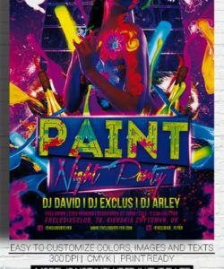 free paint night party  premium flyer template on behance paint night flyer template doc