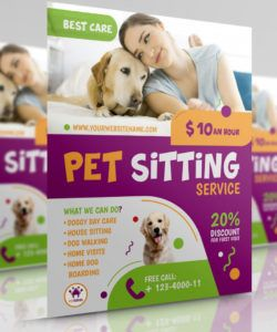 free pet sitting service flyer template by owpictures on dribbble puppies for sale flyer template doc